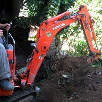 Landscaping excavation